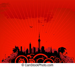 cityscape, torre
