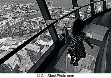 cityscape, -, tour, ciel, auckland