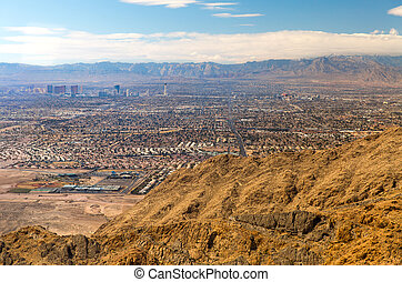 panorama of las vegas city in nevada