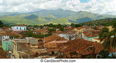 cityscape, trinidad, panorama, cuba