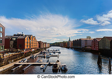 cityscape, trondheim, noorwegen