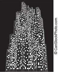 cityscape, urbain, vecteur