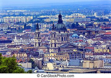 Cityscape Urban Saint Stephens Cathedral Budapest Hungary -...