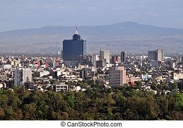 cityscape, város, mexikó