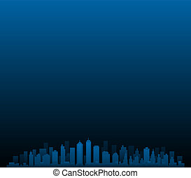 CItyscape vector city skyline at night