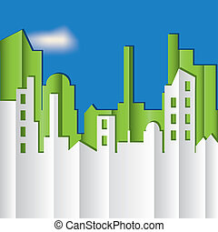 CITYSCAPE. Vector illustration.