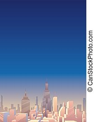 cityscape, verticaal, 3