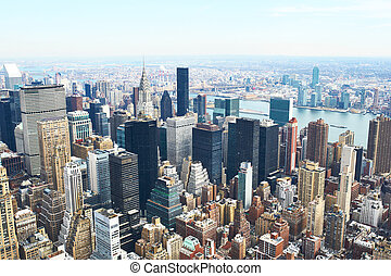 Cityscape view of Manhattan from Empire State Building, New...