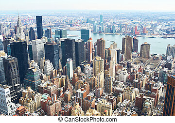 Cityscape view of Manhattan from Empire State Building, New York City, USA