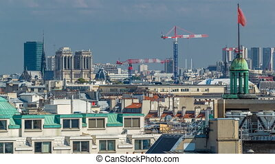 Cityscape view on the beautiful buildings timelapse from...