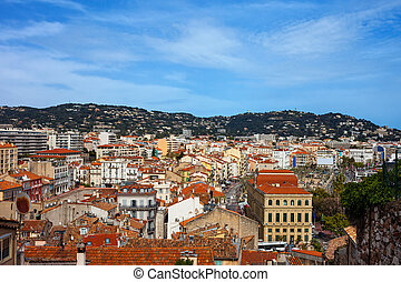 cityscape, ville, cannes, france