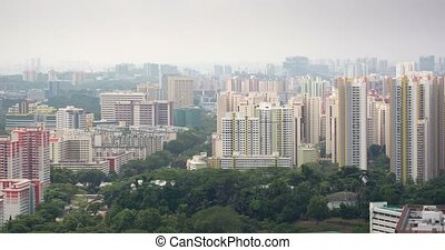 Cityscape with attractive, modern, highrise residential...