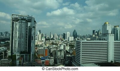 Cityscape with building in city of Bangkok