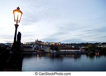 Cityscape with Castle - Prague