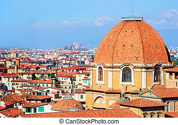 Cityscape with Medici Chapel Florence - Cityscape with...