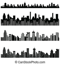 Cityscape with Skyscraper Building - easy to edit vector...