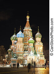 St. Basil Cathedral in Moscow - Cityscape with the image of...