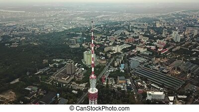 Cityscape with TV tower - Amazing green cityscape with the...
