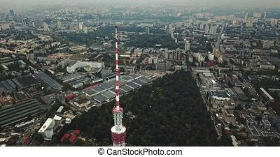 Cityscape with TV tower - Wonderful green cityscape with the...