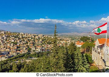 cityscape, zahle, skyline, libanon, beeka