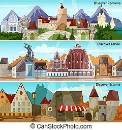 cityscapes, állhatatos, szalagcímek, európai