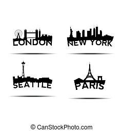 cityscapes, conjunto