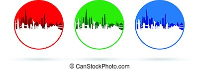 cityscapes, komplet, trzy