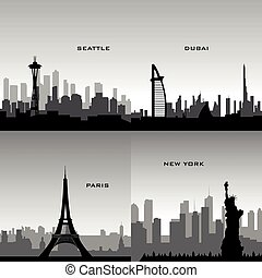 cityscapes, komplet