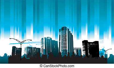 Cityscapes silhouettes background