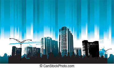 cityscapes, sylwetka, tło