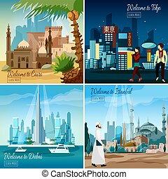 cityscapes, wschodni, turystyczny