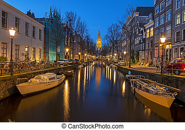 Cityscenic from Amsterdam in the Netherlands with the ...