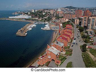 City(town) Vladivostok Russia Seaside edge