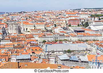 Cityview of Lisboa - City view of Lisboa city, Lisboa,...