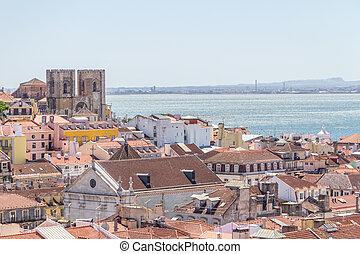 Cityview of Lisboa - Buildings in a Lisboa neighborhood,...