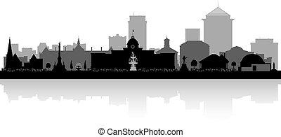 ciudad, alabama, silueta, contorno, montgomery