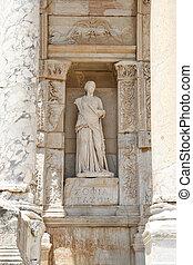 ciudad, antiguo, personificación, sabiduría, ephesus,...