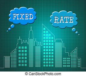 ciudad, aprieto, préstamo de hipoteca, -, ilustración, o, ...
