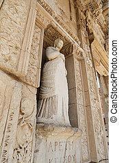 ciudad, arete, antiguo, personificación, ephesus, virtud,...