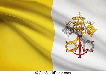 ciudad, arrugar, serie, state., vaticano, flags.