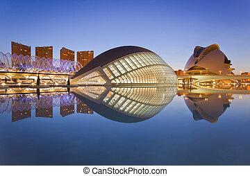 ciudad, artes, museo, valencia's, ciencia