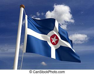ciudad, bandera, indianapolis