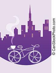 ciudad, bicicleta