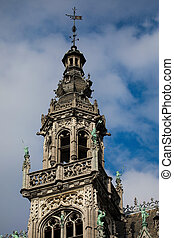 ciudad, bruselas, roi, museo, localizado, maison, florido,...