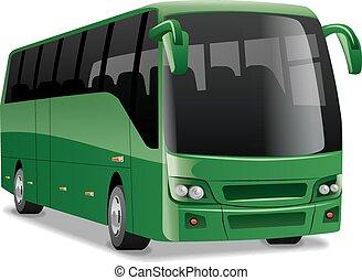 ciudad, cómodo, autobús