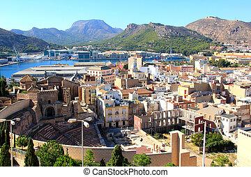 ciudad, cartagena, españa