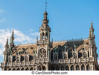 ciudad, casa, museo, bélgica, reyes, bruselas