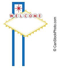 ciudad, casino, o, bienvenida