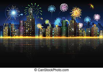 ciudad, celebración