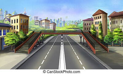 ciudad, crosswalk, -, 3